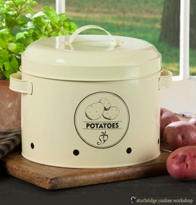 Enamel Potato Container | Kitchen Accessories | Sturbridge Yankee Workshop