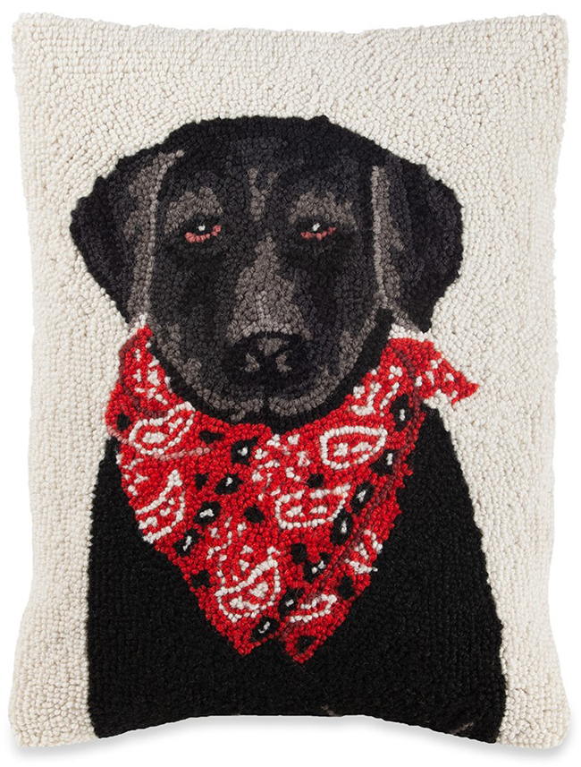 Red Bandana Dog Pillow | Sturbridge Yankee Workshop