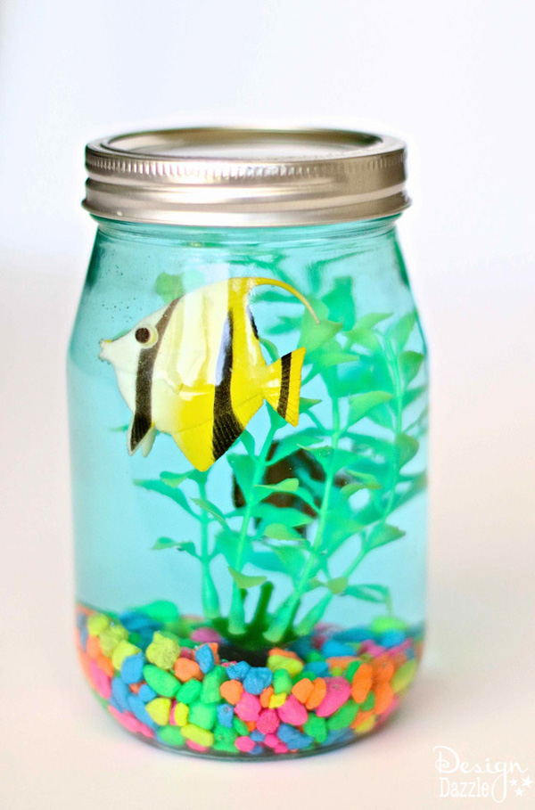 Mason Jar Aquarium from Design Dazzle