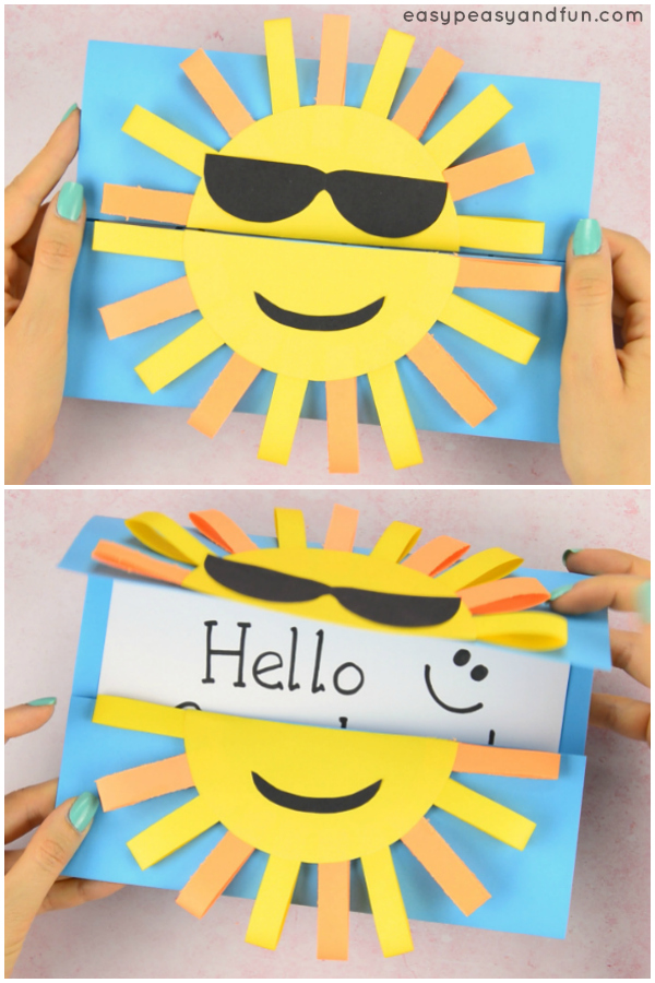 DIY Sun Card from Easy Peasy and Fun
