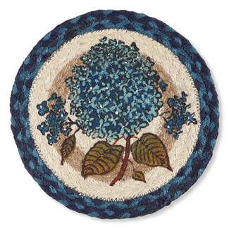 Blue Hydrangea Jute Trivet | Phyllis Stevens | Sturbridge Yankee Workshop