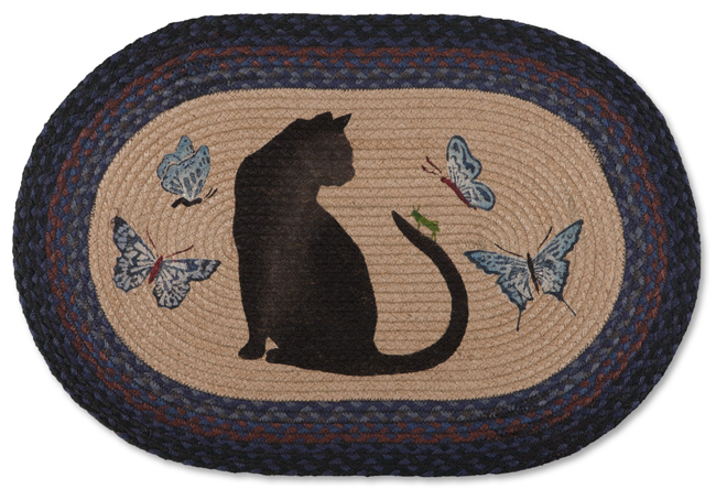 Cat & Grasshopper Accent Rug | Karl Johnson | Sturbridge Yankee Workshop