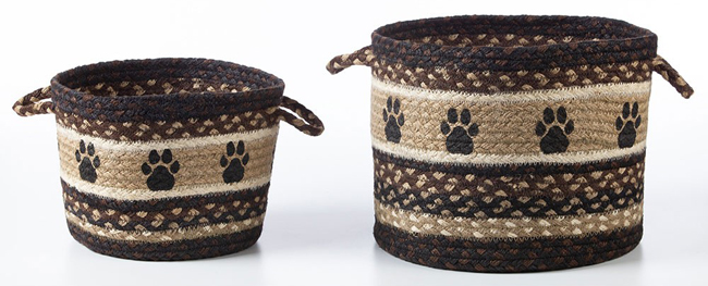Paw Prints Jute Basket | Sturbridge Yankee Workshop