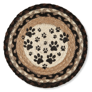 Paw Prints Jute Trivet | Sturbridge Yankee Workshop