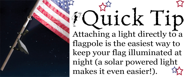 Quick Tip: Illuminating Your American Flag