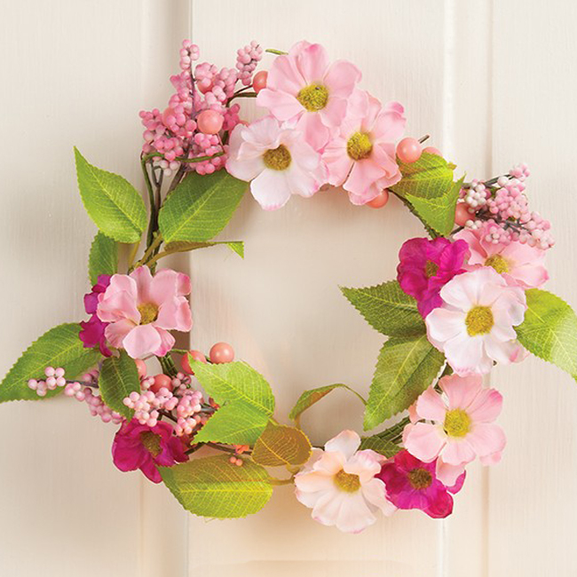 Summer Pink Mini Wreath | Sturbridge Yankee Workshop