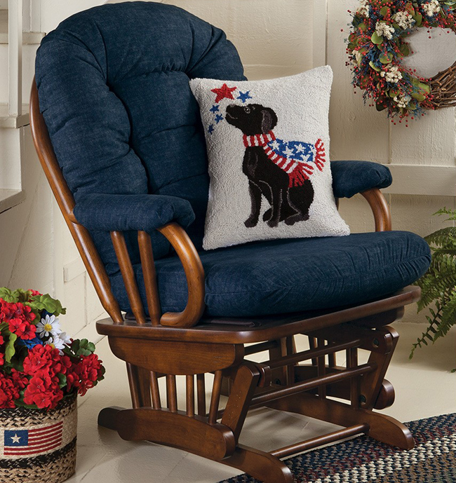 Ava Upholstered Glider | USA | Sturbridge Yankee Workshop
