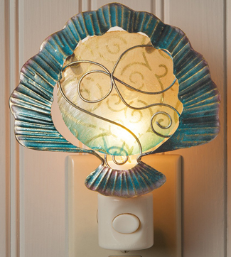 Capiz Clam Shell Night Light | Beach Decor