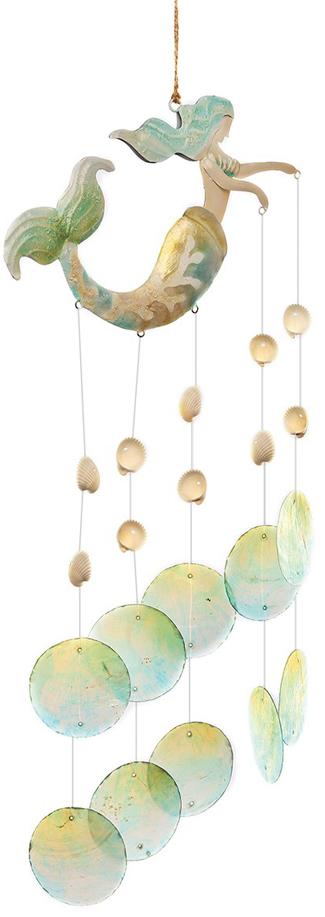 Mermaid Wind Chime | Beach Decor | Sturbridge Yankee Workshop