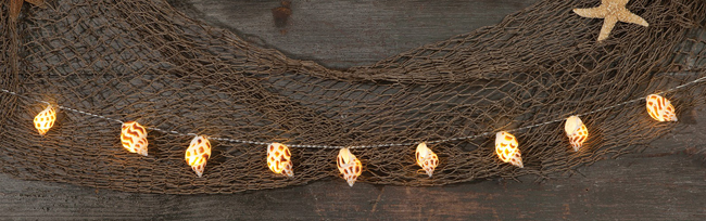 Conch Shell String Lights | Beach Decor | Sturbridge Yankee Workshop