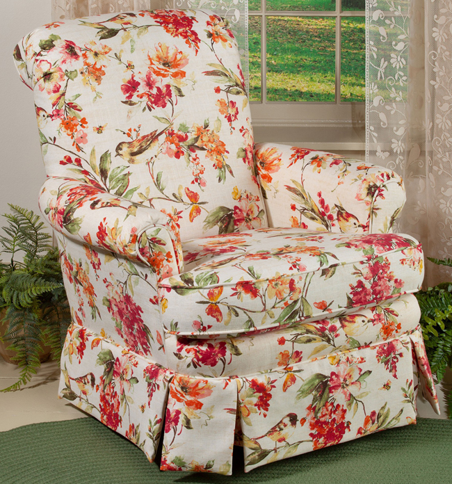 Finch Garden Upholstered Swivel Chair | USA | Sturbridge Yankee Workshop