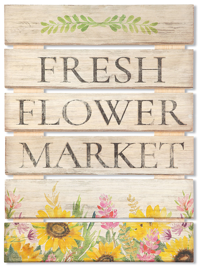 Fresh Flower Market Sign | USA | Sturbridge Yankee Workshop