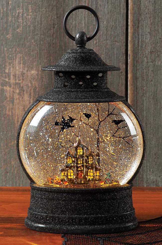 Haunted House Glitter Globe Lantern | Sturbridge Yankee Workshop
