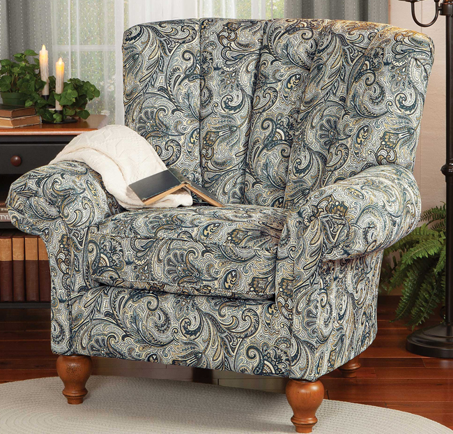 Jacobean Paisley Upholstered Chair | USA | Sturbridge Yankee Workshop