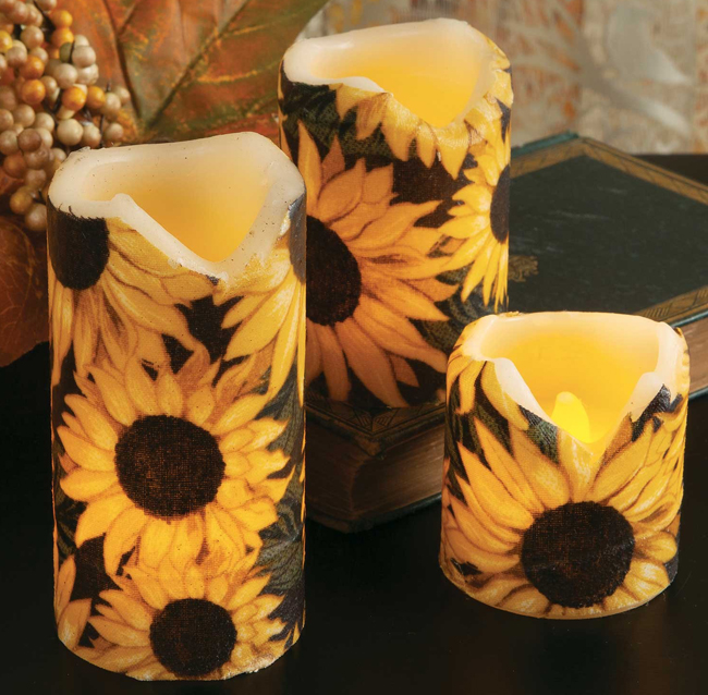 Sunflower Pillar Candle | USA | Sturbridge Yankee Workshop
