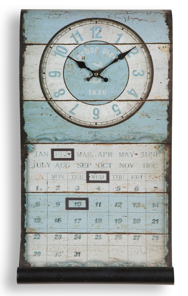 Perpetual Calendar Scroll Clock | Sturbridge Yankee Workshop