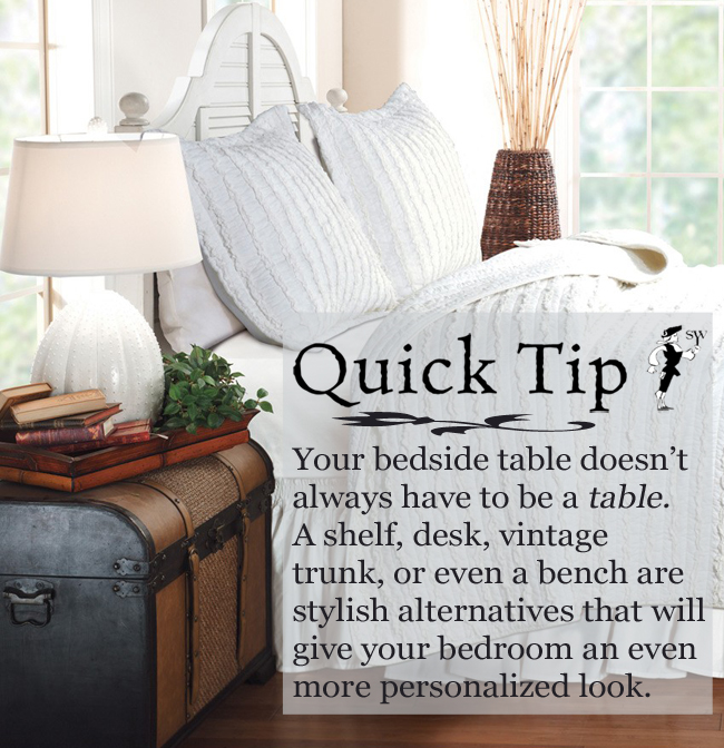 Quick Tip: Bedside Table Alternatives