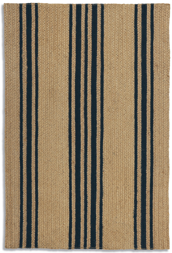 Striped Jute Braided Rug (Tan) | Sturbridge Yankee Workshop