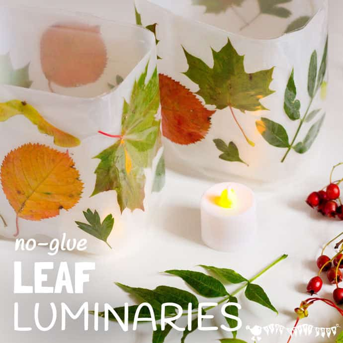 DIY Leaf Luminaries | Kids Craft Room
