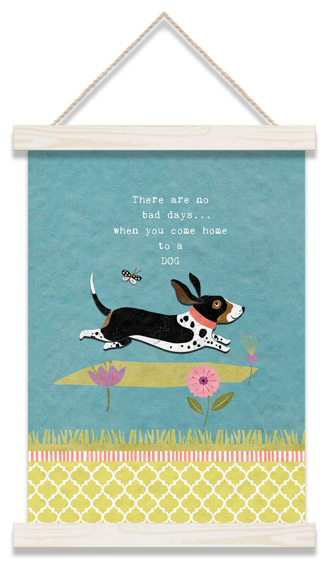 There Are No Bad Days Wall Hanging | Suzanne Nicoll | USA | Sturbridge Yankee Workshop
