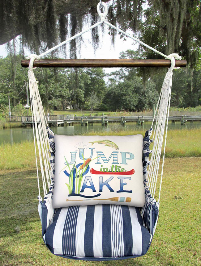 Marina Stripe Hammock Swing | Mary Lake Thompson | Sturbridge Yankee Workshop