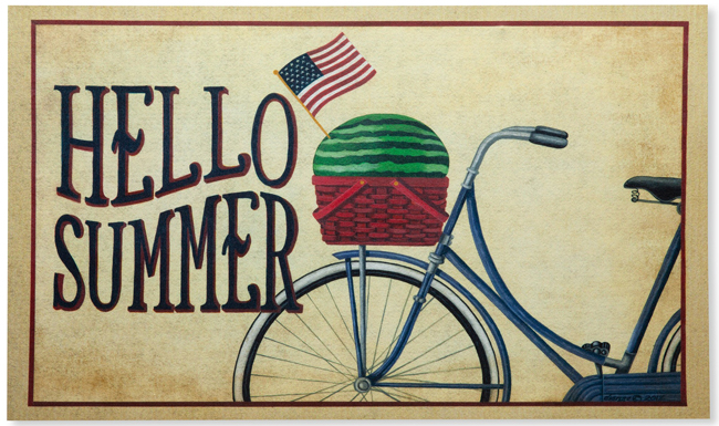 Hello Summer Doormat | Dianna Swartz | USA | Sturbridge Yankee Workshop