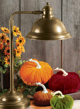 Velvet Fall Pumpkins Set | Sturbridge Yankee Workshop