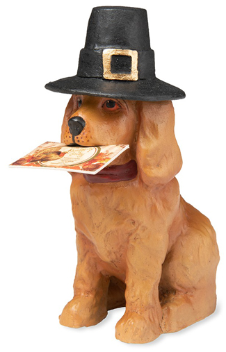 Pilgrim Puppy Sculpture | Bethany Lowe | Sturbridge Yankee Workshop