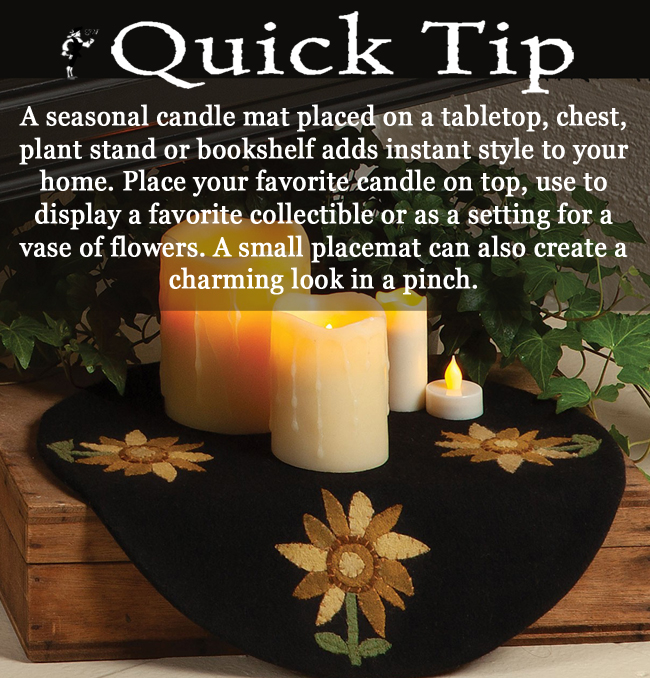 Quick Tip: Seasonal Candle Mat | Sturbridge Yankee Workshop