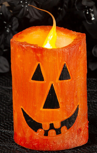 Jack-O-Lantern (small) Pillar Candle | Fall 2019 | Sturbridge Yankee Workshop