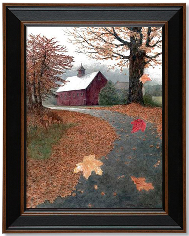 Barn Leaves Print
