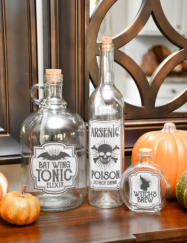 Halloween Bottle Labels | How to Nest for Less