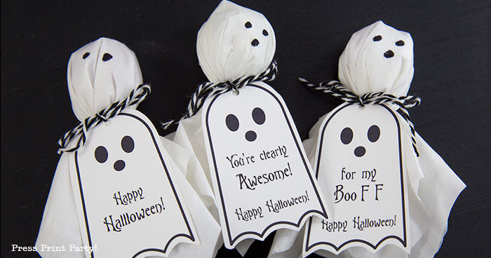 Ghost Lollipop Tags | Press Print Party